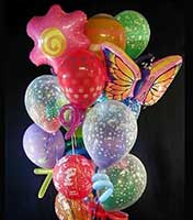 Our most popular birthday balloon bouquet. This amazing design creation has an awesome assortment of Mylar®, latex, and double buble balloons creating an 8-foot-tall joyful bouquet that is sure to be remembered.