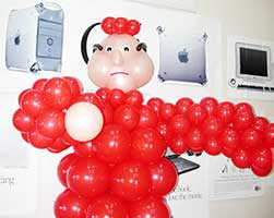 Balloon sculpture of the Inquisitor created for a cast party following a performance of