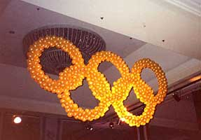 Olympic Rings for corporate competition event