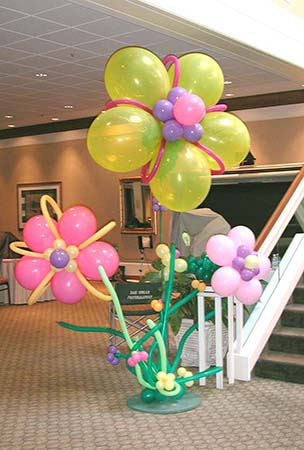 7 foot tall giant fantasy flowers for an Easter brunch event