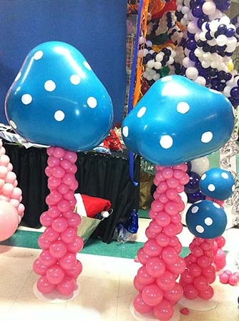 3 foot tall colorful fantasy mushrooms