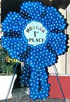 6 foot tall Blue Ribbon entrance sign for a Mothers' Day brunch event